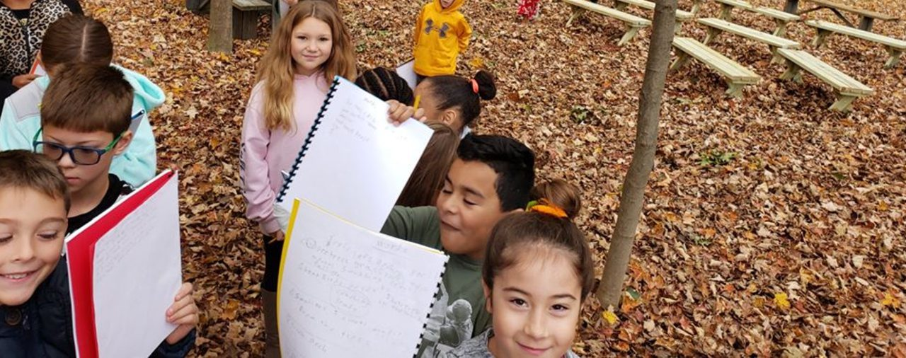 Students in Berea's outside classroom