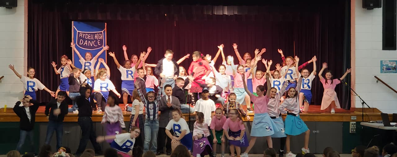 A scene from the 2020 play, Grease Jr. by the drama club